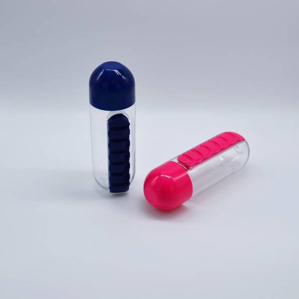 Pill Organizer Water Bottle