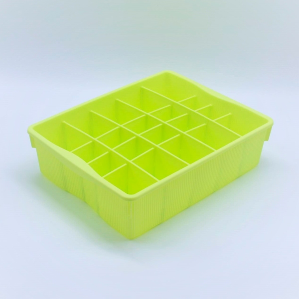 Divided Storage Container - Green