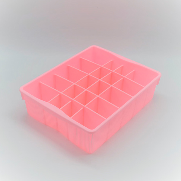 Divided Storage Container - Pink